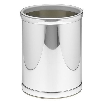 Mylar 10 in. Round Wastebasket in Polished Chrome