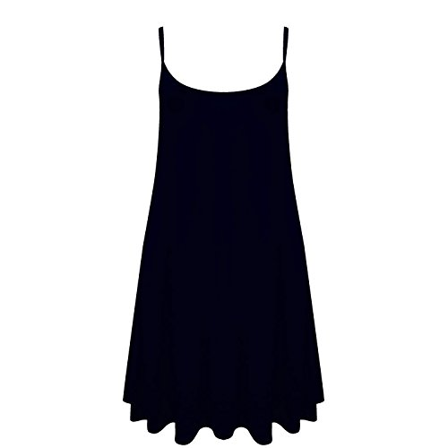 gilet da maniche unita Cami Navy Top donna dimensioni a Skater Plus Da Swing vestito donna senza tinta punta Wq8f7Apw