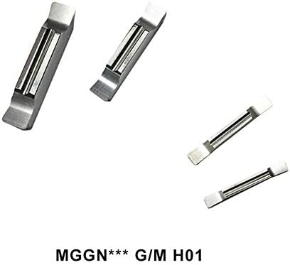 Txrh Drehbank MGGN300 MGGN150 MGGN200 MGGN250 MGGN400 Karbid-Einsätze Slotblech CNC-Drehmaschine Außen Rillklingen Werkzeug for Aluminium Kupfer (Angle : MGGN250 G H01, Insert Width(mm) : 100PCS)