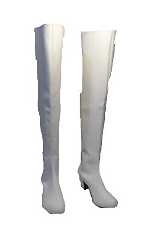 Code Geass C.C. Prison VER. White cosplay costume Boots Boot Shoes (Code Geass Uniform Costumes)