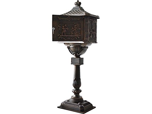 LTL Shop Bronze Mailbox Postal Box Security Cast Aluminum Vertical (Halloween Costumes Nyc Rent)