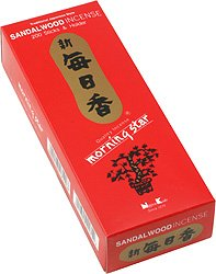 Nippon Morning Star Sandalwood Incense (200 Sticks and Holder), 12 Boxes by Nippon