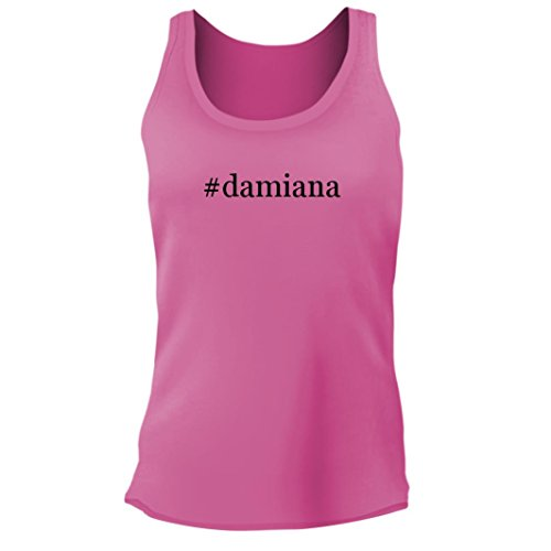 Tracy Gifts #Damiana - Women's Junior Cut Hashtag Adult Tank Top, Pink, Small Damiana Liqueur