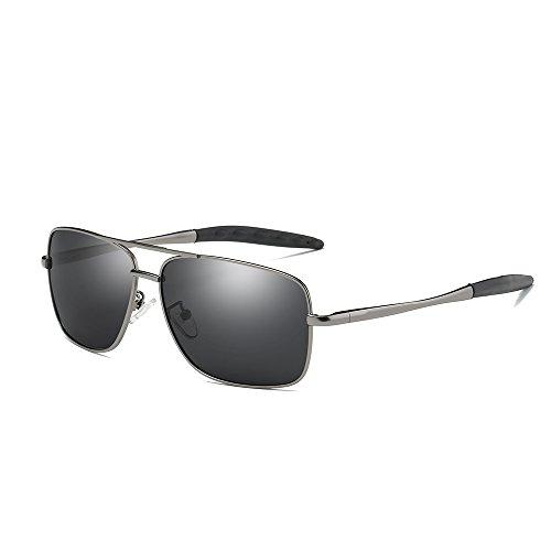 Rectangular Weight (VeBrellen Driving Sunglasses Ultra Lightweight Rectangular Polarized Sun Glasses 100% UV Protection Al-Mg Metal Frame YJ121 (Gun Black Frame))