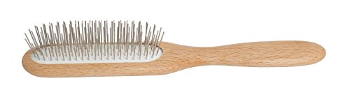 Redecker Metal Wire Hairbrush with Oiled Beechwood Handle, 8-3/4-Inches