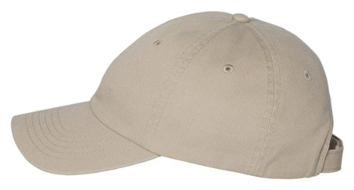 Chino Twill Cap - Valucap Unstructured Washed Chino Twill Cap One Size Khaki