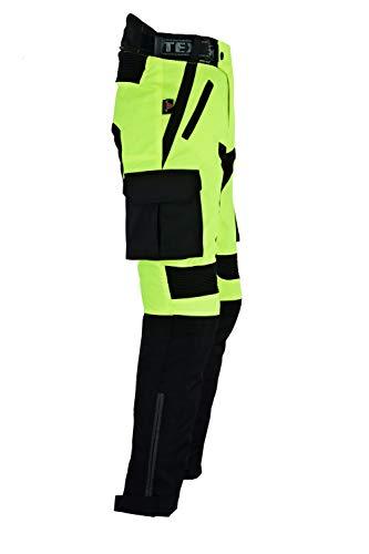 wasserdicht Texpeed Schwarz /& Neongelb Alle Gr/ö/ßen Textil Herren Motorradhose mit CE-Protektoren