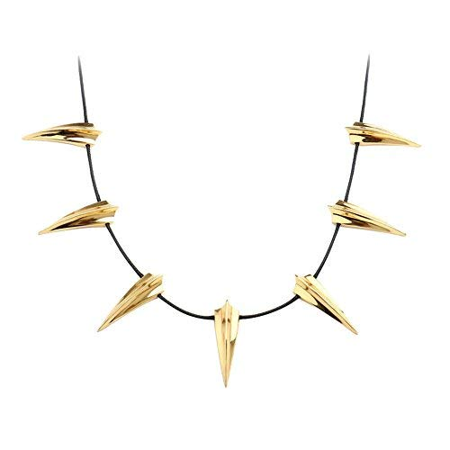 Cosplay Necklace Silver or Gold Black Panther Necklace Wakanda King T'Challa For Mans or Womens Unisex Collar,Perfect Interpretation of the Role. (Gold)]()