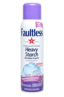 Faultless Heavy Lavender Spray Starch 20 oz Cans (Pack of 4) by Faultless