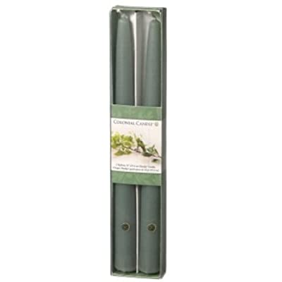 Colonial Candle Bayberry Scented 10 Inch Tapers ~ Good Fortune Candle