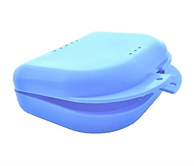 ProDental Mouth Guard Case, Orthodontic Dental Retainer Box, Denture Storage Container – Blue with Air Vent Holes