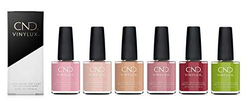 Vinylux Nail Polish Fall 2020 Collection All 6 colors includes Crisp Green/Cherry Apple/Fuji Love/Pacific Rose/Gala Girl…
