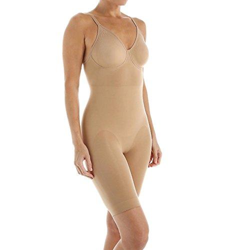 Body Wrap Women's Long Leg Bodysuit,Nude,Small
