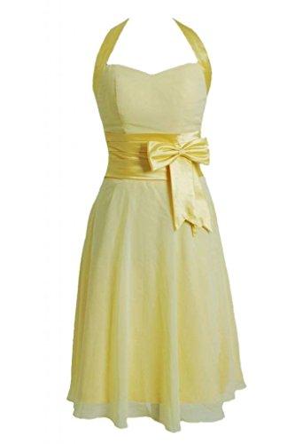 Daisyformals Courte Robe De Soirée Licol Robe De Demoiselle D'honneur W / Ceinture Plissé (de Bm8529) # 24 Banane