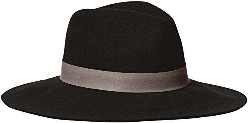 Michael Stars Women's Midnight Ride Wide Brim Wool Felt Hat, Black, One Size