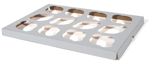 Southern Champion Tray 10016 Clay Coated Kraft Paperboard 12-ct Cupcake Insert, 13-7/8