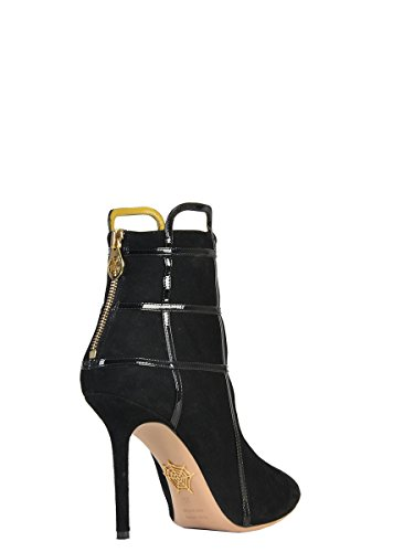 Women's Black F154394001 Ankle Charlotte Olympia Suede Boots qg5ZF7Pwx