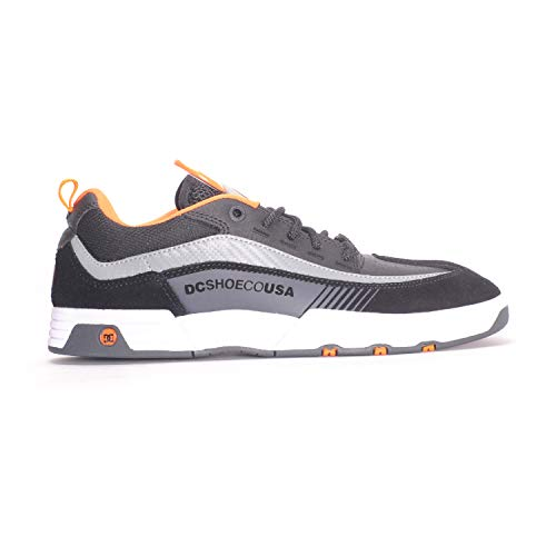 a1898621 DC Mens Legacy 98 Slim S Black Orange Grey Shoes Size 13