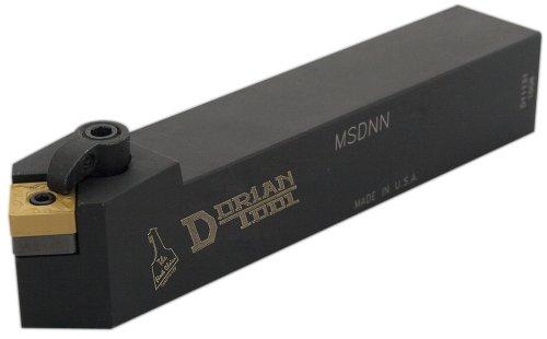 Dorian Tool MSDN Square Shank Multi-Lock Turning Holder, Neutral Cut, 5/8'' Shank Width, 5/8'' Shank Height, 4-1/2'' Overall Length, 3/8'' Insert by Dorian Tool