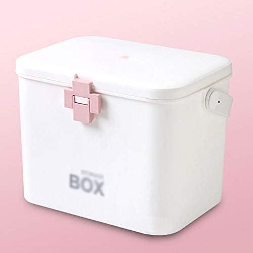 薬箱 ホーム救急医療箱大容量の応急処置ボックス収納ボックスホーム薬箱 薬品保管オーガナイザー