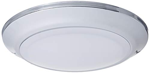 Westinghouse Lighting 6323000 Large LED Indoor/Outdoor Dimmable Surface Mount Wet Location, Chrome Finish with Frosted Lens,