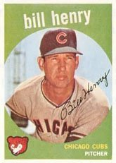1959 Topps Regular (Baseball) Card# 46 Bill Henry of the Chicago Cubs VG Condition