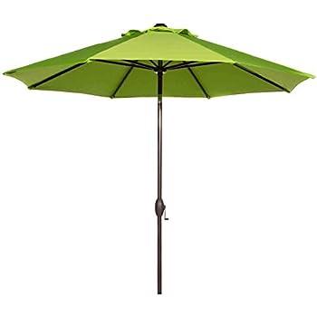 Great Abba Patio 9 Feet Patio Umbrella Market Outdoor Table Umbrella With Auto  Tilt And Crank, Lime Green