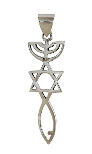 (AJDesign Sterling Silver Messianic Seal Pendant Spiritual Religious Jewelry Grafted Pendant)