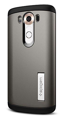 Spigen Slim Armor LG V10 Case with Air Cushion Technology and Hybrid Drop Protection for LG V10 - Gunmetal (Lg Screen Protector Spigen G3)