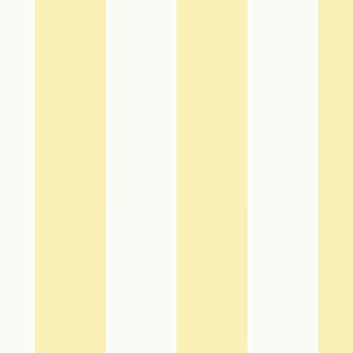 (Manhattan Comfort NWSY33922 Frisco Vinyl Striped Wallpaper Roll, Yellow)