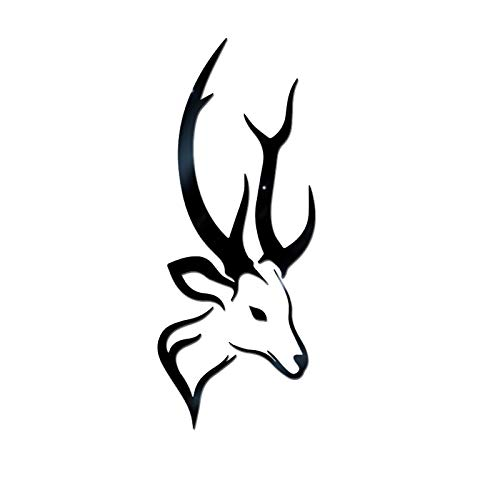 Fine Christmas Deer Head Shaped Design 3D Wall Stickers, Creative DIY Fashion Personality Toilet Bathroom Decoration Christmas Door Decals (Black) (For Online Sofas Cheap)