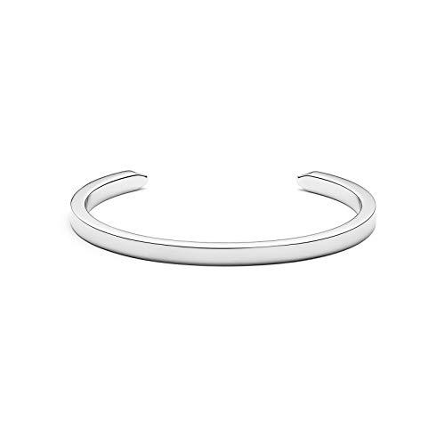MVMT Women's Minimalist Cuff Bracelet | Open Closure, Stainless Steel | Silver