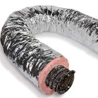 Insulated Ducting - LL BUILDING PRODUCTS F6IFD4X300 Duct Pipe, 4