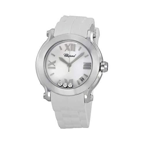 Chopard Happy Diamonds Watches - Chopard Women's 278475-3016 Happy Sport Round Diamond White Dial Watch