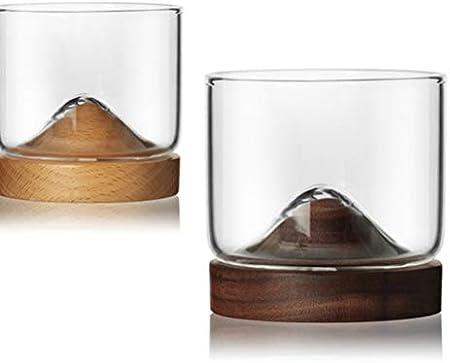 Haushaltsberg - Vaso de whisky (base de madera), diseño japonés, ver imagen, Size 1
