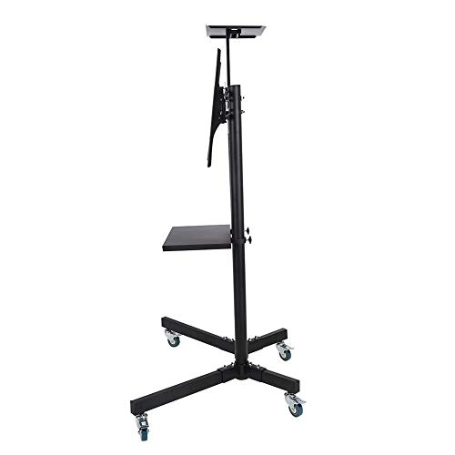 Wal front TV Mount,Mobile TV Cart Adjustable Stand Mount for 32-65 Inch LCD/LED Flat Panel Screen with Wheels (1203911) by Wal front (Image #3)