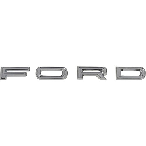 MACs Auto Parts 42-37143 -67 Fairlane Trunk Letter Set - F-O-R-D - All Chrome - With Hardware - From 1-4-65 - Ford Fairlane Trunk