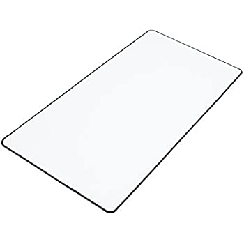"""White XXL Extended Gaming Mouse Mat / Pad - Large, Wide (Long) Mouse Pad, Stitched Edges, Speed Silky Smooth Surface - 36""""x18""""x0.12"""""""