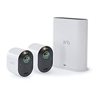 Arlo Technologies Ultra - 4K UHD Wire-Free Security 2 Camera System | Indoor/Outdoor with Color Night Vision, 180° View, 2-Way Audio, Spotlight, Siren | Works with Alexa and HomeKit | (VMS5240) (B07JJJSMCM) | Amazon price tracker / tracking, Amazon price history charts, Amazon price watches, Amazon price drop alerts