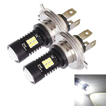 Uniqus 2 PCS MZ-H4-2835 10.5W 780 LM 6500K 21 LEDs Car High Low Headlights DC 1224V(White Light)
