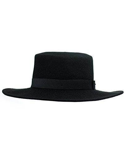 fcddb82db75 Jual NYFASHION101 Wool Wide Brim Porkpie Fedora Hat w Simple Band ...