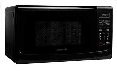 Farberware Classic FMO07ABTBKA 0.7 Cu. Ft 700-Watt Microwave Oven with LED Lighting, Black