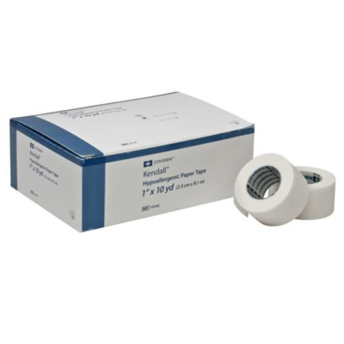 Covidien 1914C Kendall Hypoallergenic Paper Tape 1'' x 10 yd. Size (Pack of 12)