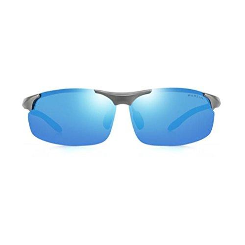 Al MG Blue de 8003 Super 100 Lunettes Cadre Polarisées Anti avec de Lunettes Soleil UV400 Lunettes PARZIN Sport de Métal Conduite Blue Léger Homme CO4wxq7