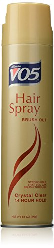 VO5 Out Crystal Clear 14 Hour Hold Hair Spray Brush, 8.5 (Brush Out Spray)