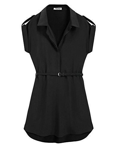 Buy belted black shirt dress - 8