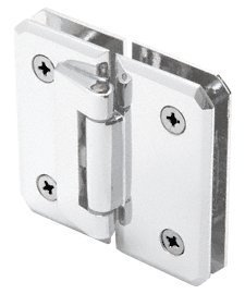 CRL Monaco 182 Series Satin Chrome 180° Glass-to-Glass Hinge Swings In Only by C.R. Laurence