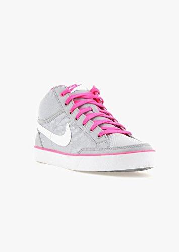 Nike Capri 3 Mid TXT GS, Zapatillas de Deporte Para Niñas Gris (Gris (Wlf Grey / White-Pnk Blst-Cl Gry))