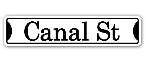 CANAL ST Street Sign Childrens Name Room Sign| Indoor/Outdoor | 18