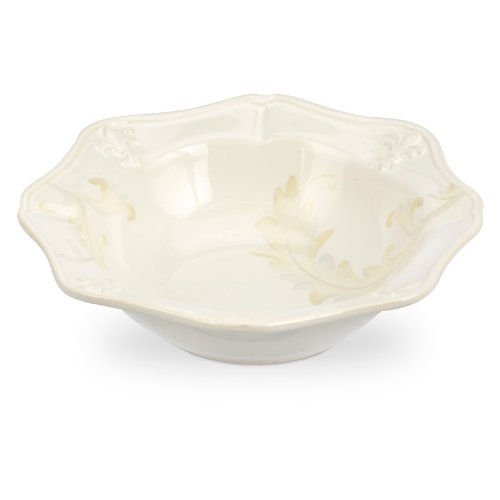 Portmeirion Fleur de lys cream/decorated Cereal bowl - Fleur Cereal Bowl